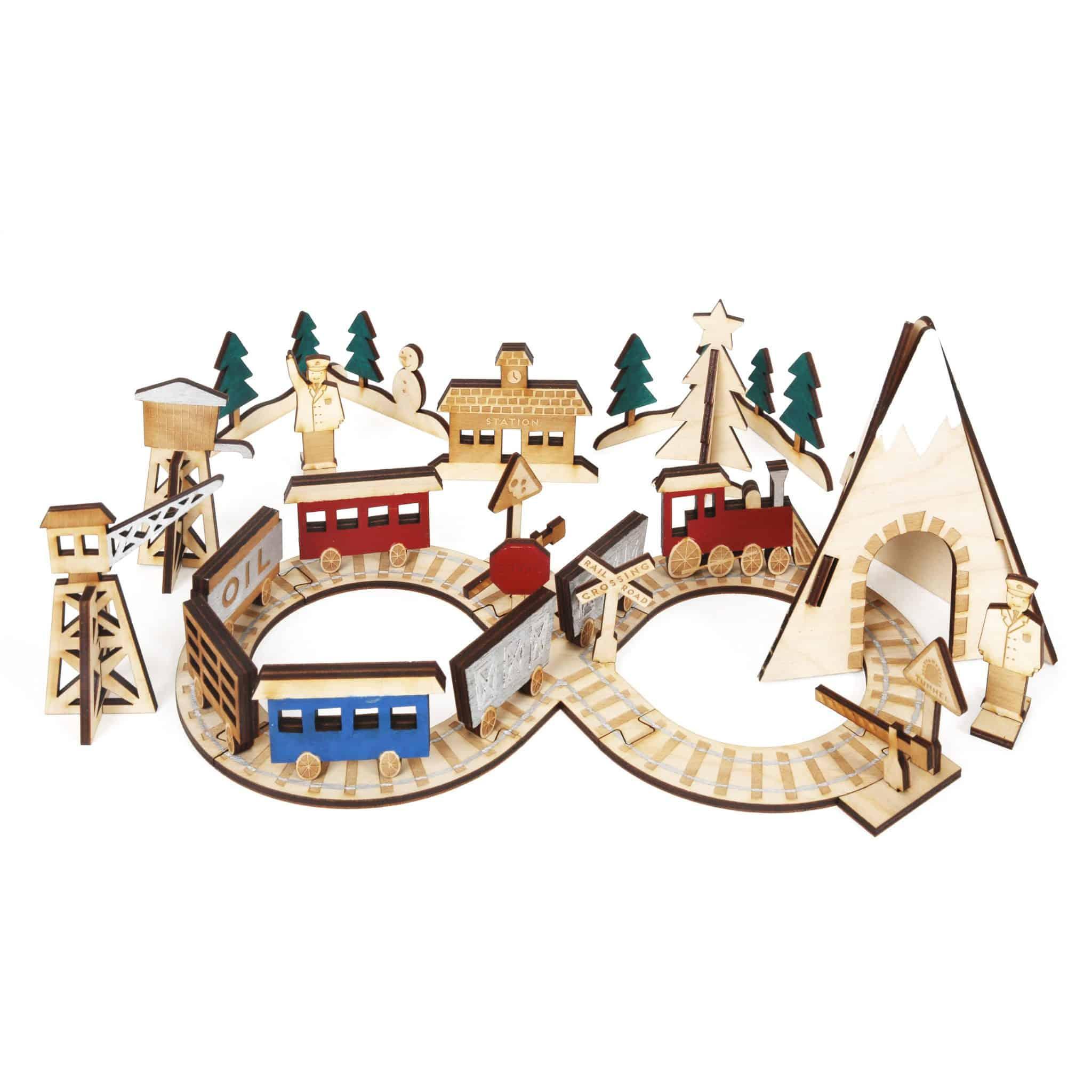 Wooden Train Set Advent Calendar