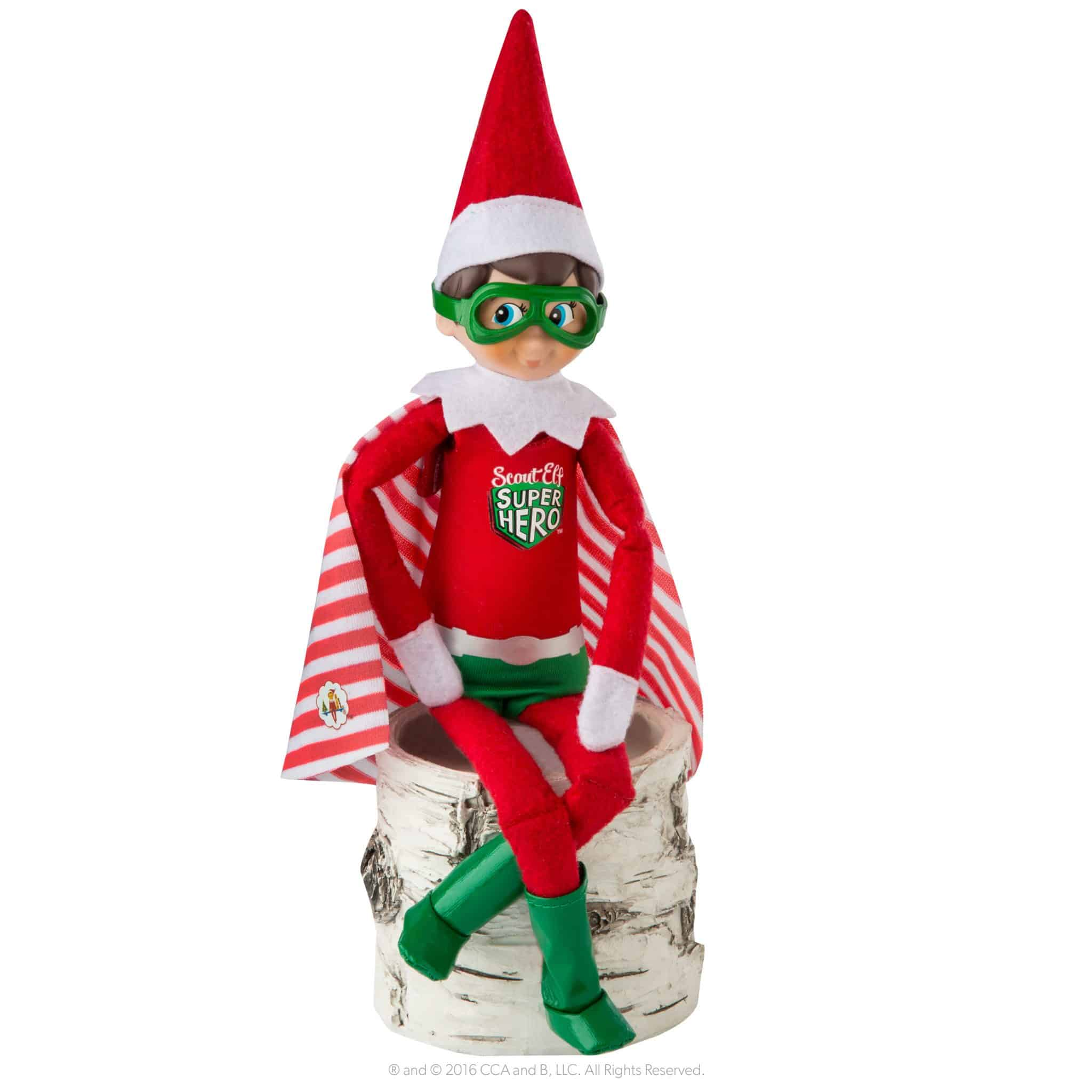 Elf on the shelf superhero costume