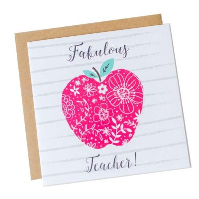 Teacher thank you card