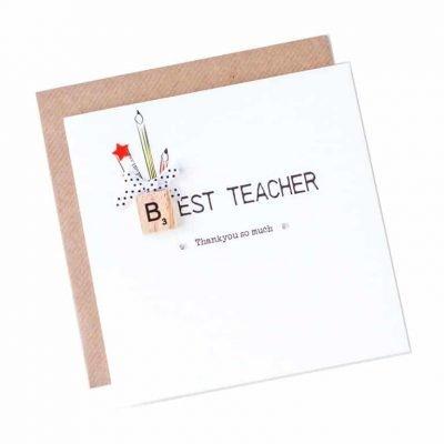 Thank-you teacher card