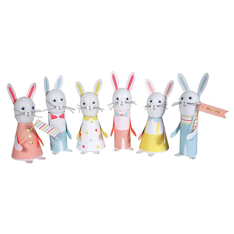 Easter bunny paper craft kit little advent boxes negle Images
