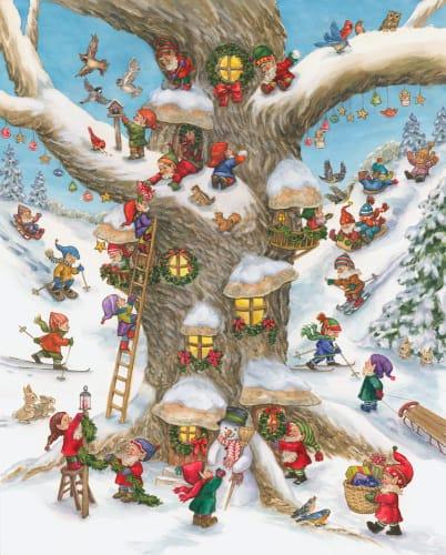 Christmas Jigsaw Puzzles.Elf Village Christmas Jigsaw Puzzle 1000 Pc
