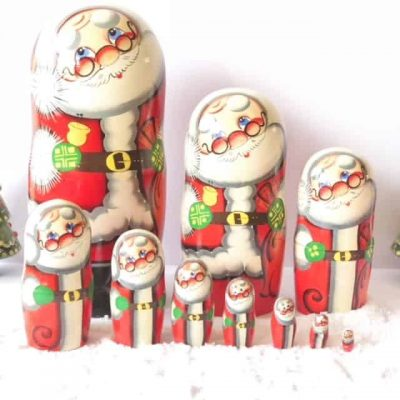 Babushka-Santa-dolls-large-10-piece-set