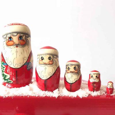 Babushka-dolls-Santa-Christmas-nesting-5-piece
