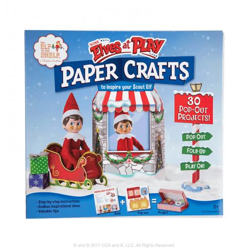 Paper-craft-props-book-elf-on-shelf