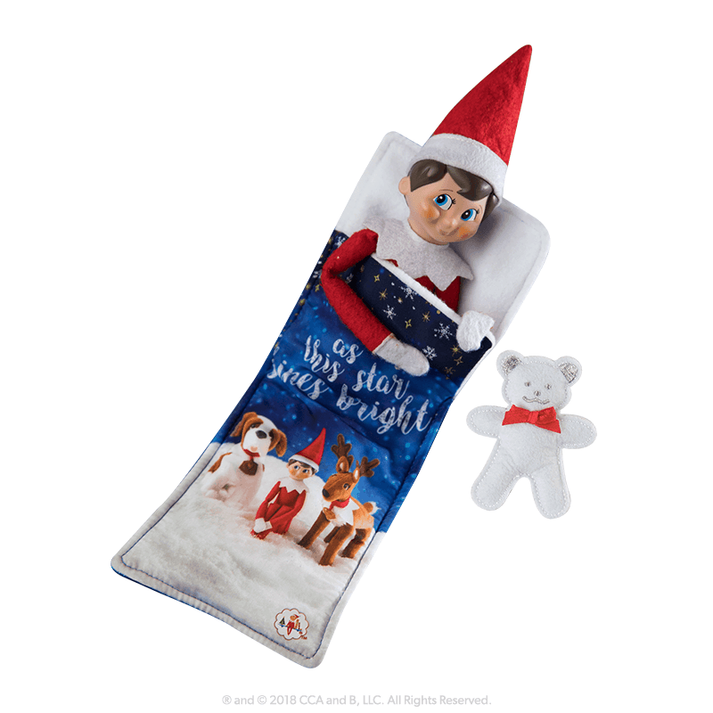 elf on the shelf sleeping bag set official adoption centre bonus
