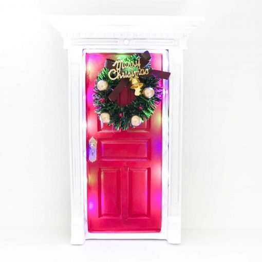 Elf-door-light-up-Red