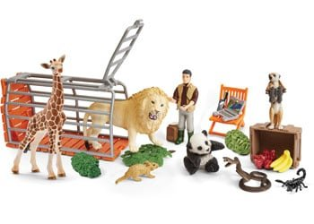 Kids=advent-calendar-Schleich-Wildlife-contents