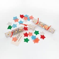 Christmas Crackers Contents.Tiny Confetti Crackers