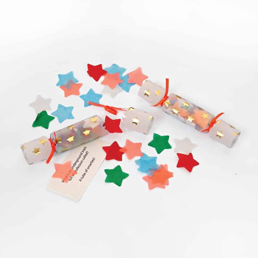 Christmas Cracker Toys.Tiny Confetti Crackers