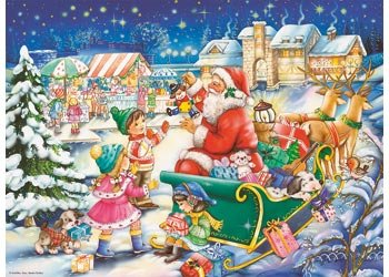 Adults-Kids-Christmas-Jigsaw-Puzzle-Santa-500-pieces