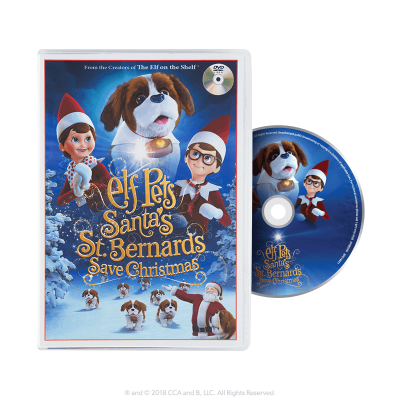 elf-on-shelf-dvd-movie-australia-st-bernards
