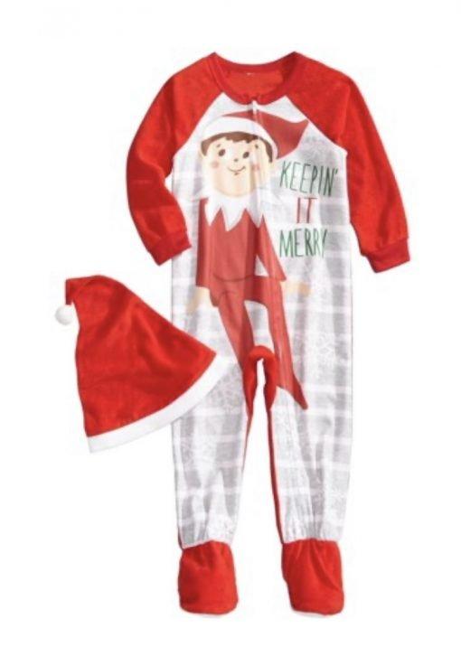 kids-elf-on-the-shelf-pajamas-onesie-australia