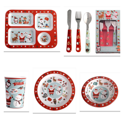 melamine-christmas-dinner-set-kids
